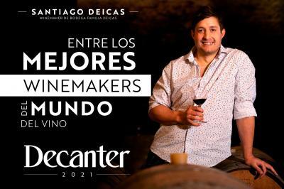 Santiago Deicas, entre los mejores winemakers del mundo del vino